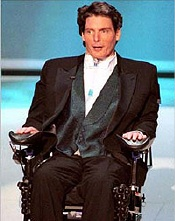 Christopher Reeve at Oscars in wheelchair