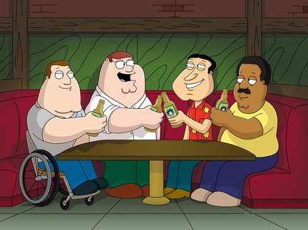 Men from Family Guy at bar